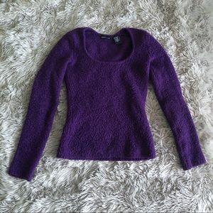 Moda International • purple sweater